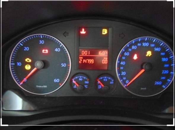 - (VW Golf V, Tachostand)
