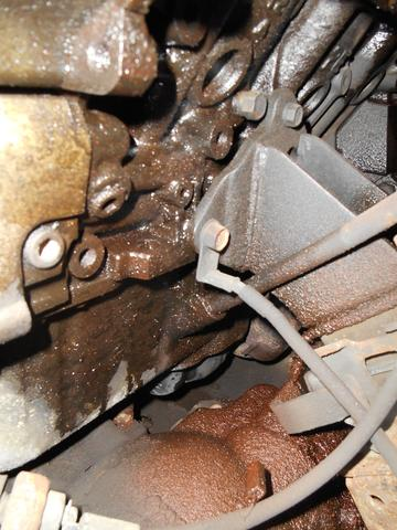 Motorblock linke Seite weiter hinten - (Motor, Schaden, Kühlwasser)