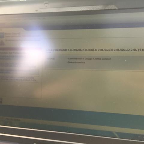 Angezeigte Fehlermeldung(Lambdsonde 1) - (Audi, lambdasonde, Sportback)